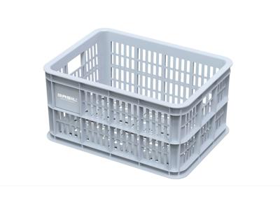 Basil Crate S - Plast kurv - Til opbevaring eller bagagebærer - Silver cloud