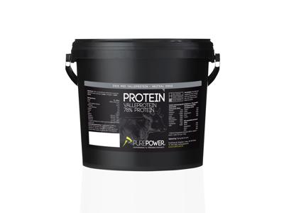 PurePower Proteinpulver - Valleproteindrik - Neutral 3 kg