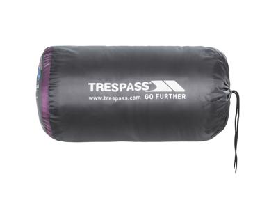 Trespass Siesta sovepose - 2 sæsoner - 230 x 85 x 55 cm - Lilla/sort