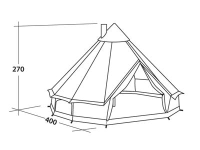 Robens Klondike - Telt - 6 Personer - Sand
