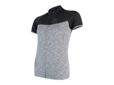 Sensor Motion FZ Jersey  - Dame Cykeltrøje med kort ærme - Grå/Sort - Str. M