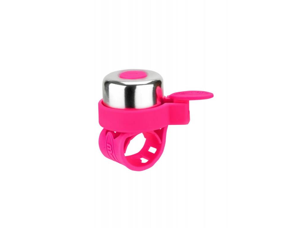 Micro - Ringklocka - Neon Rosa/Silver