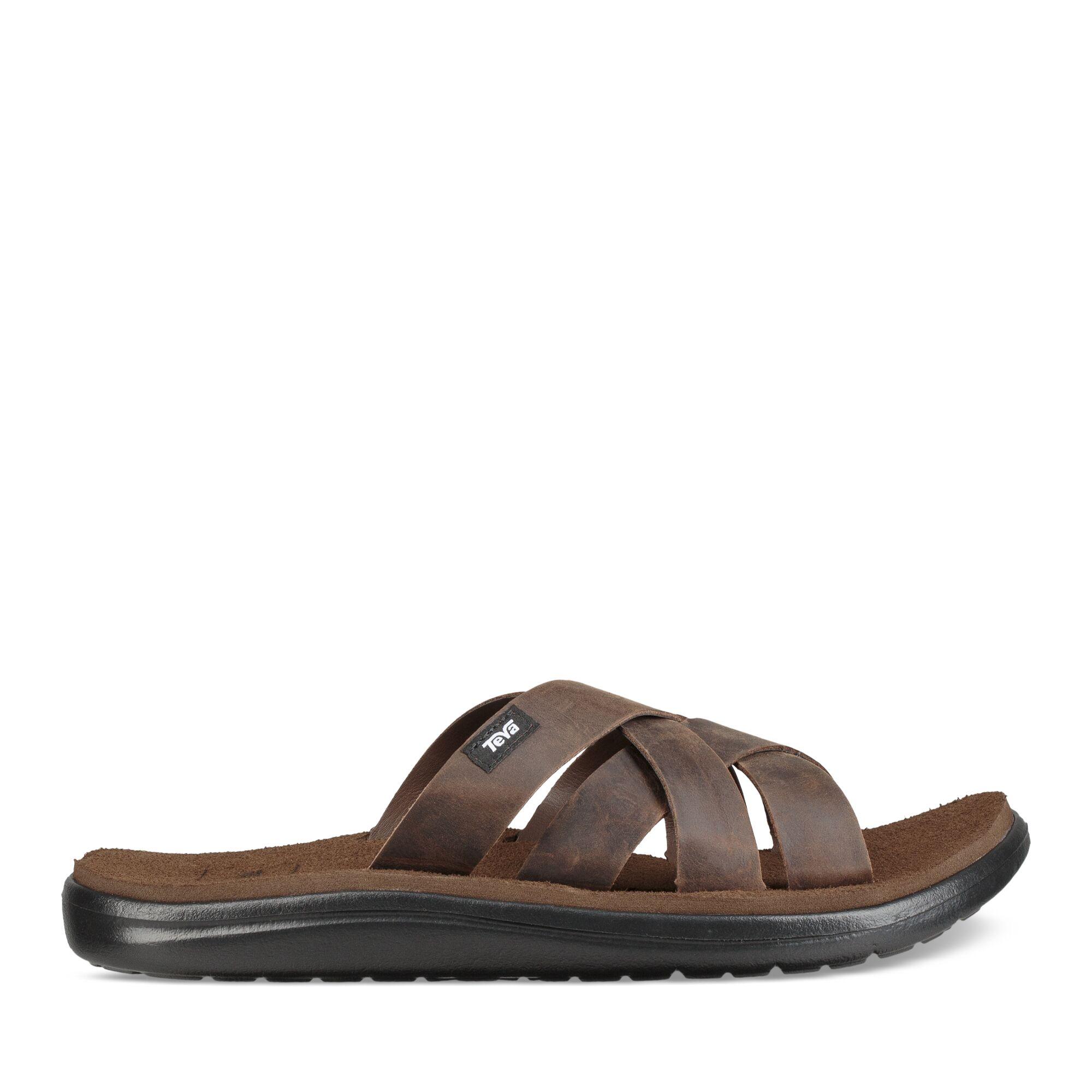 Teva M Voya Slide Leather - Sandal til mænd - Carafe | Shoes and overlays