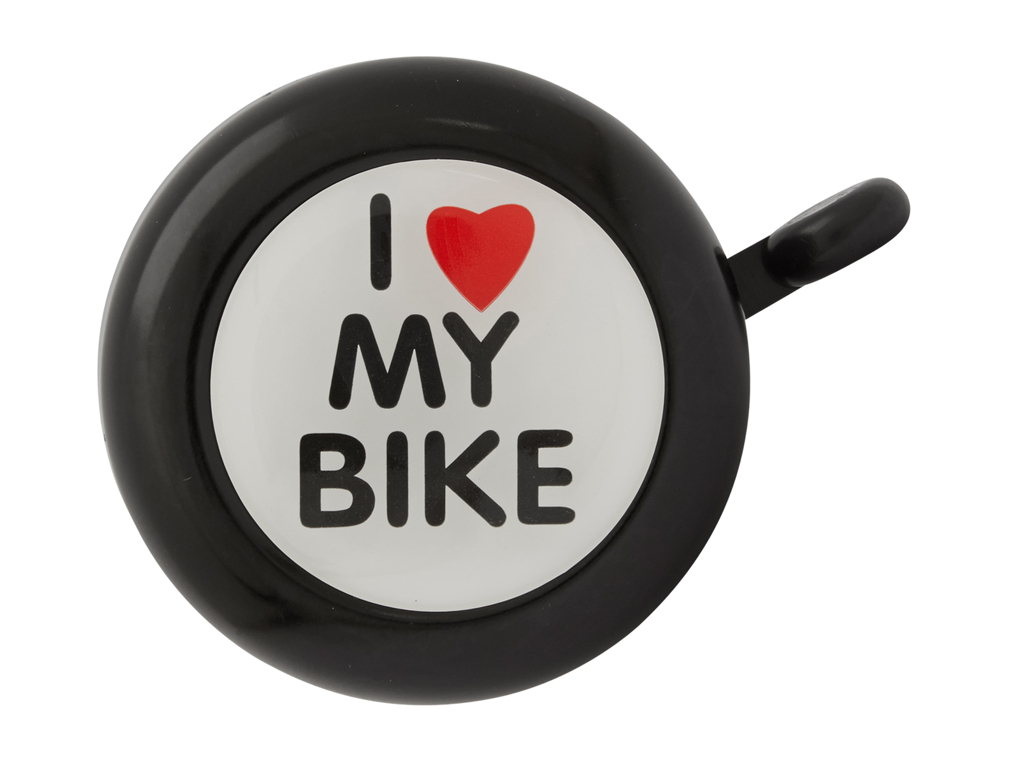 Image of   Atredo - Ringeklokke - I love my bike - Sort