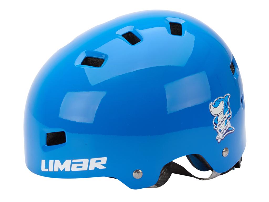 Limar 306 - Cykelhjälm till barn - Str. 50-54 cm - Blå haj