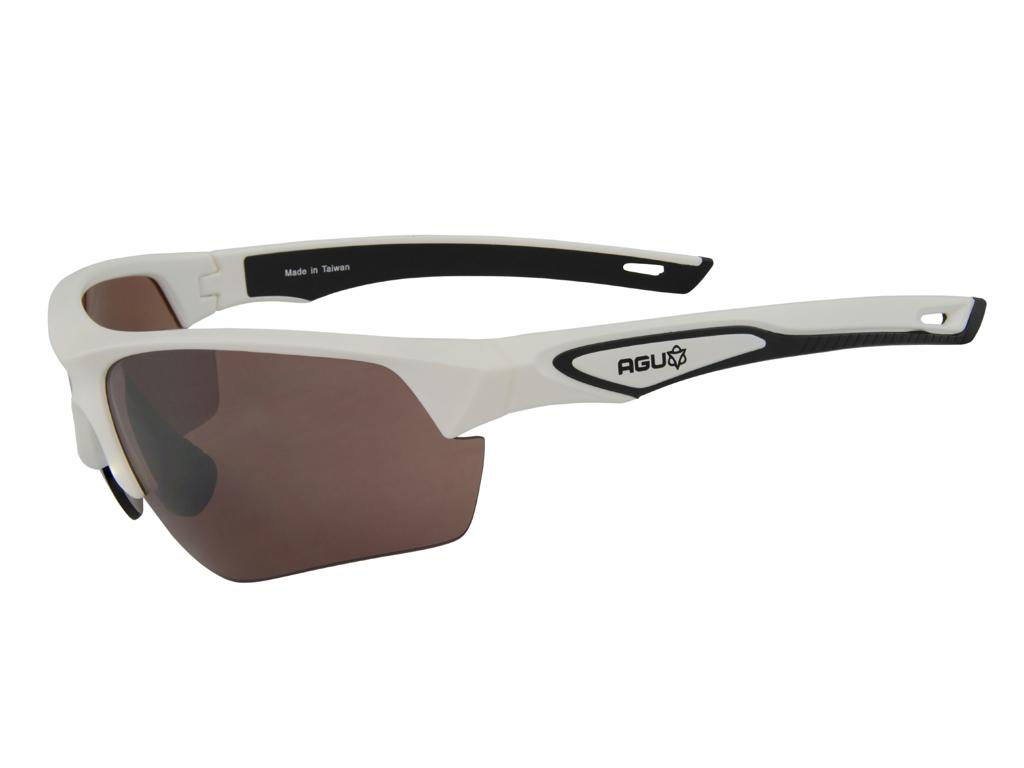 Image of   AGU Medina HD - Sports- og cykelbriller med 3 sæt linser - Hvid