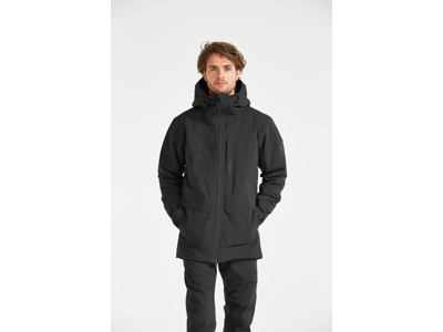 Didriksons Dale Mens Jacket - Vandtæt herrejakke m. for - Sort