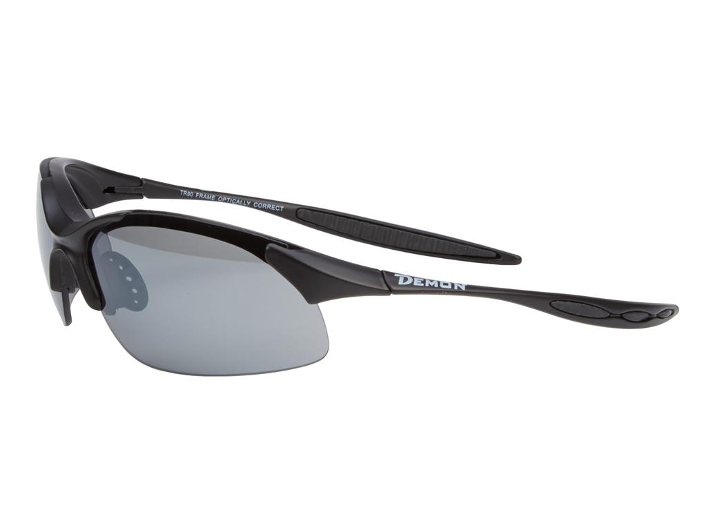 Image of   Demon 832 DCHANGE - Løbe- og cykelbrille med 3 linser - Matsort