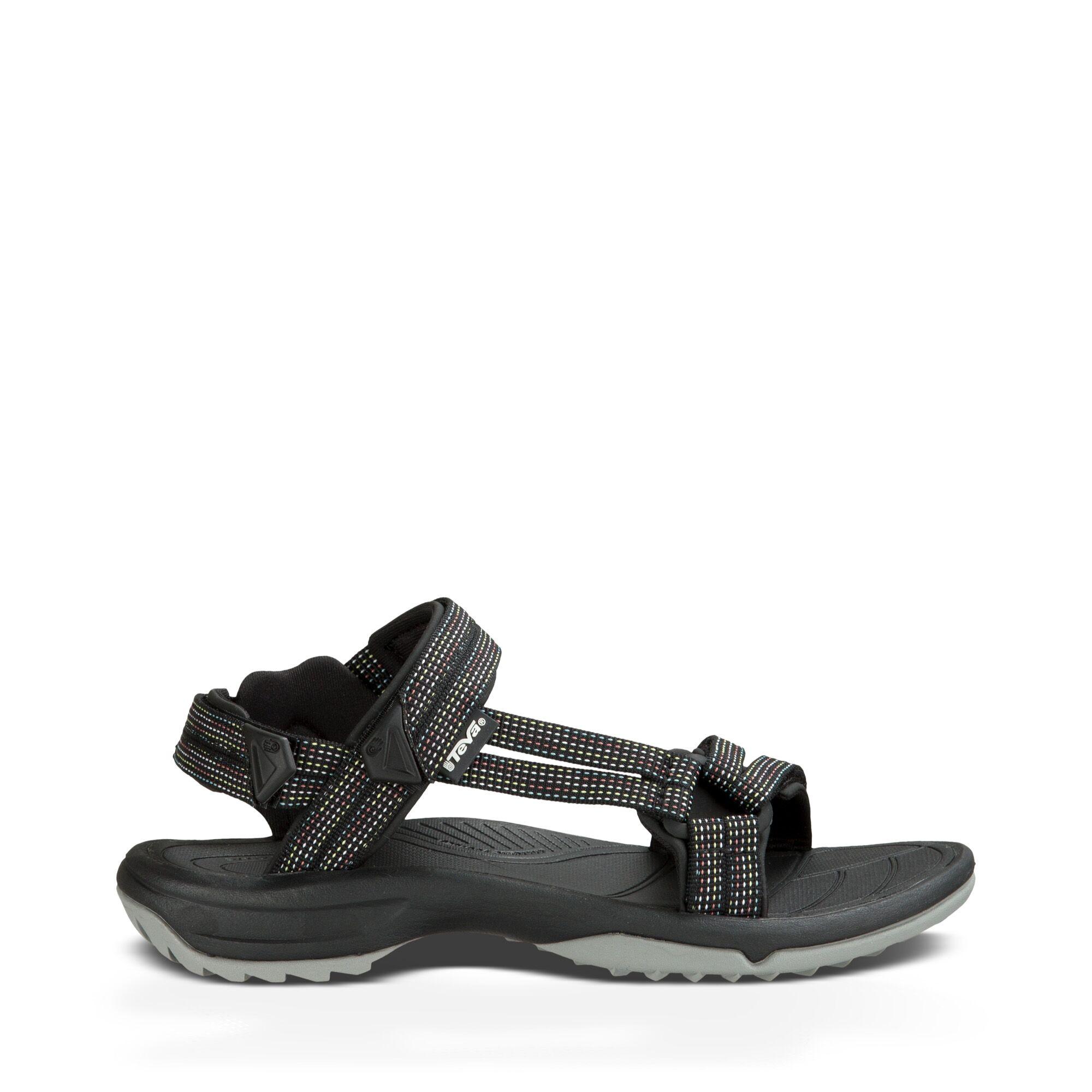 Teva W Terra Fi Lite - Sandal til dame - City Lights Black | Shoes and overlays