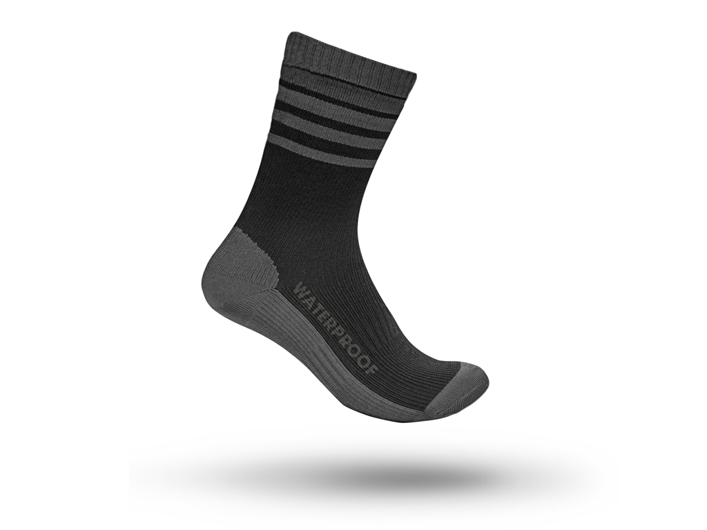 GripGrab Waterproof Merino Thermal Sock 3016- Vandtæt Strømpe - Sort - Str. M thumbnail