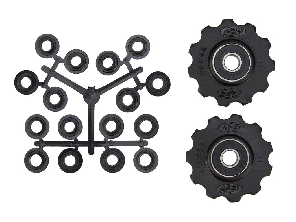 Image of   BBB pulleyhjul 11 tands med ABEC-3 lukkede lejer - Rollerboys 2 stk