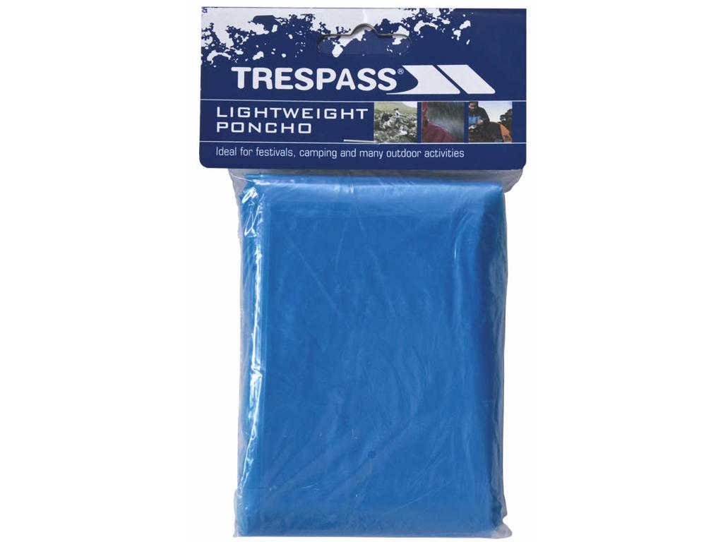 Trespass Drylite - Poncho - PE plastik - Blå thumbnail