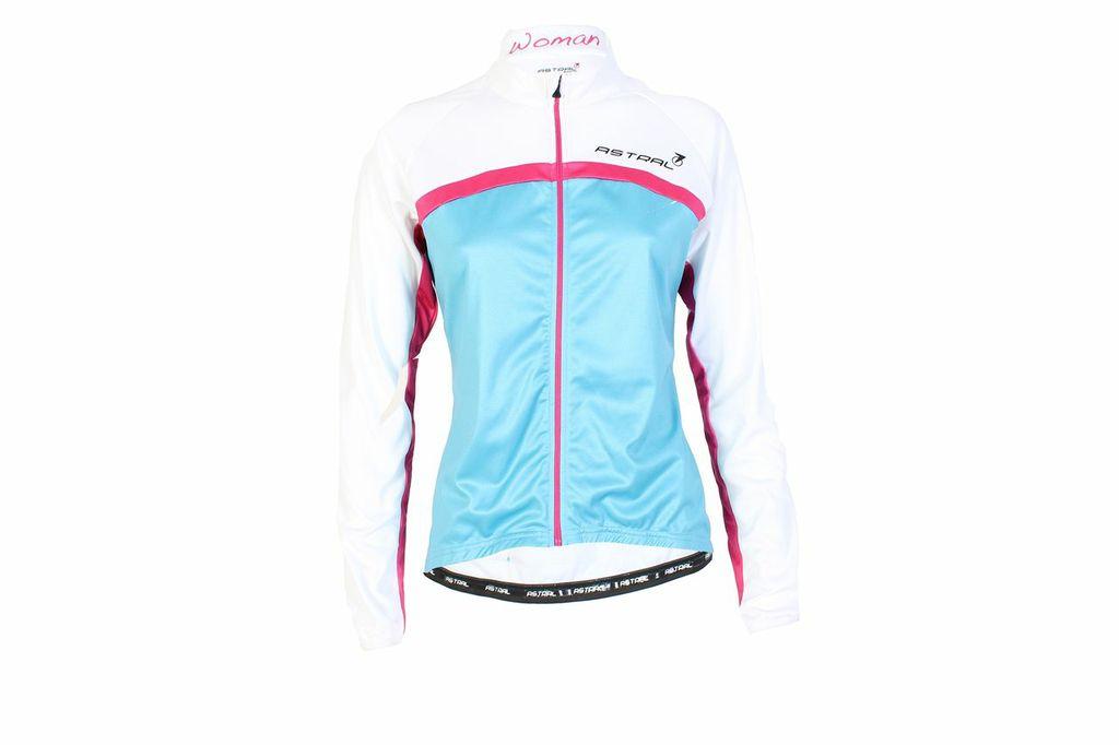 Cykeltrøje blå/hvid/pink Dame Model 1100   Jackets