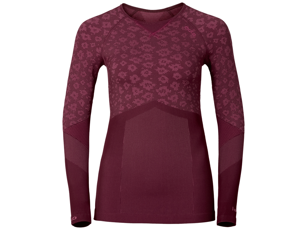 Image of   Odlo Blackcomb Evolution warm - Langærmet bluse til dame - Bordeaux - Str. XL