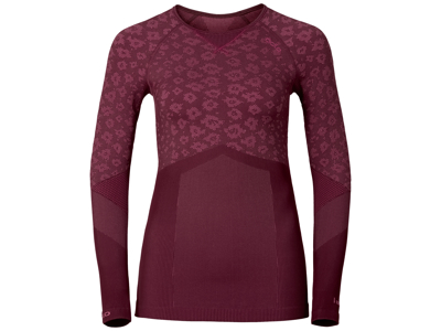 Odlo Blackcomb Evolution warm - Langærmet bluse til dame - Bordeaux
