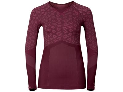 Odlo Blackcomb Evolution warm - Långärmad tröja dam - Bordeaux