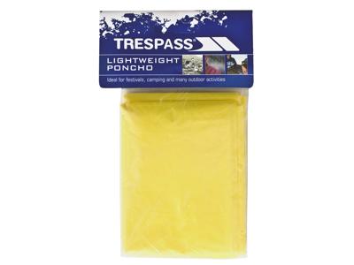 Trespass Drylite - Poncho - PE plastik - Gul