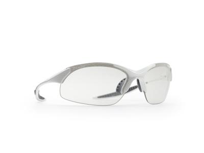 Demon 832 - Løbe- og cykelbrille med fotokromisk linse - Carbon look/hvid