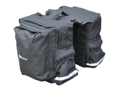 BikePartner - Tanja - Cykeltaske til bagagebærer - Sort - 2 delt