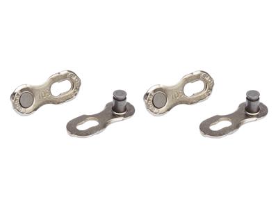 KMC Missing Link - samleled 2 stk til 10 gears kæde Sølv - Til kæde X10L og X10SL