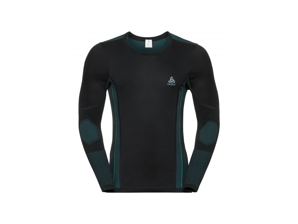 Image of   Odlo - Performance Windshield XC-skiing light shirt - Herre - Sort/blå