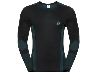Odlo - Performance Windshield XC-skiing light shirt - Herre - Sort/blå