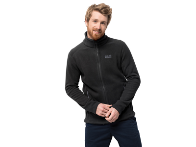 Jack Wolfskin Midnight Moon Fleece Jakke - Herre - Sort