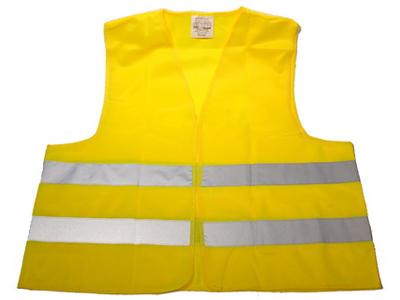 Sikkerhedsvest gul med refleks voksen