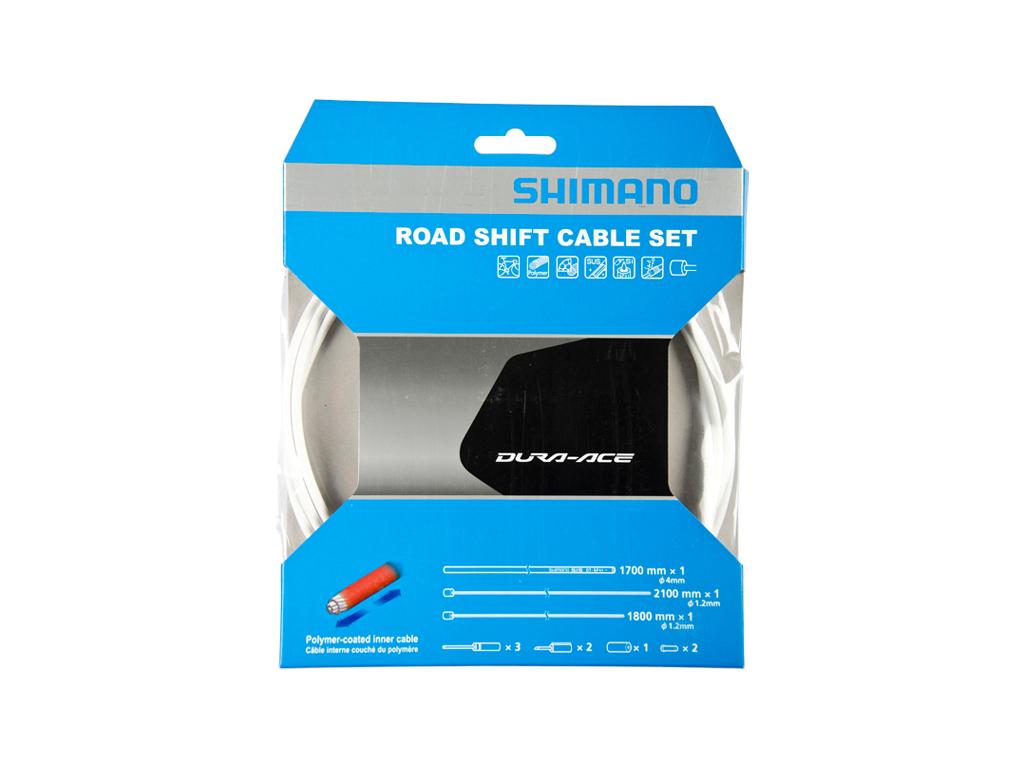 Image of   Shimano Dura Ace gearkabelsæt - Road Polymer - For-og bagskifter kabel komplet - Hvid