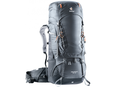Deuter Aircontact 55 + 10 - Trek rygsæk - Grå/sort