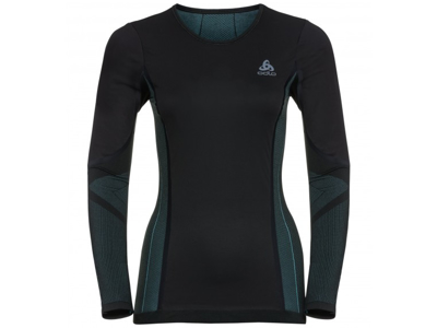 Odlo - Performance Windshield XC-skiing light shirt - Dame - Sort/blå