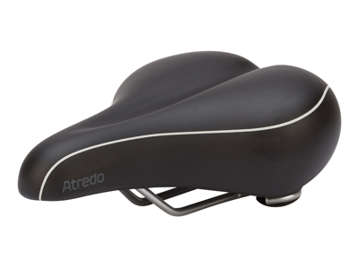 Atredo - Sadel - komfort lux med gel - Svart