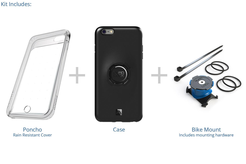 Quad Lock - Bike kit - Cover, front-cover og beslag til styr/frempind - Til iPhone 6+/6s+ | phone_mounts_component
