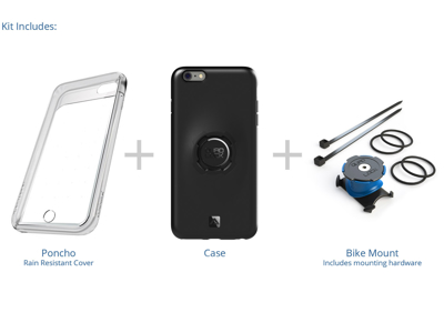 Quad Lock - Bike kit - Cover, frontcover og beslag til styr/frempind - Til iPhone 6/6s
