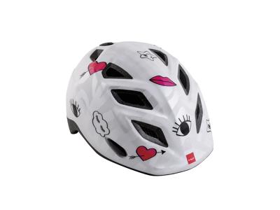 MET Elfo/Genio - Cykelhjelm - Hvid Patchwork