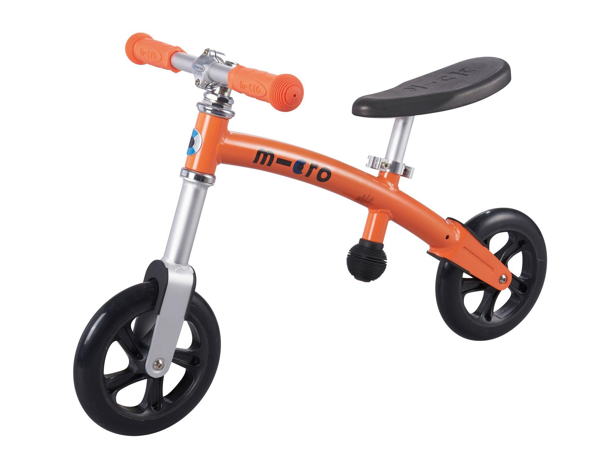 Micro G-Bike Light - Løbecykel - Aluminium - Orange | Løbecykel