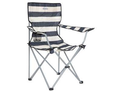 Trespass Branson - Hopfällbar campingstol med dryckhållare - Navy Stripe