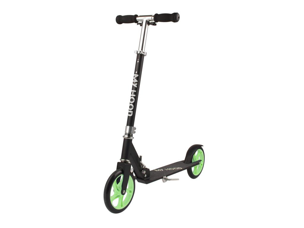 Image of   My Hood 200 - Løbehjul til børn og voksne - Sort/Grøn