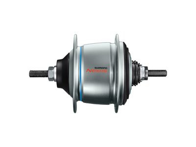 Shimano Nexus Di2 - Gearnav med 8 gear og friløb og fælgbremse - Type SG-C6061-8V - Sølv