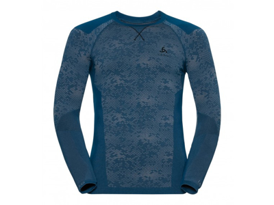 Odlo - Blackcomb Evolution Warm Crew Neck - Herre - Blå/Sort