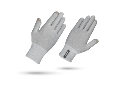 GripGrab Merino Liner - Touch Screen Cycling Glove - Grey