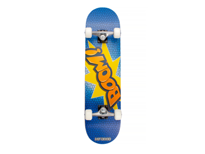 My Hood Boom - skateboard - ABEC 9 Blå/Orange