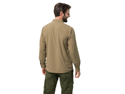 Jack Wolfskin Atacama Roll-up Skjorte - Herre - Kaki