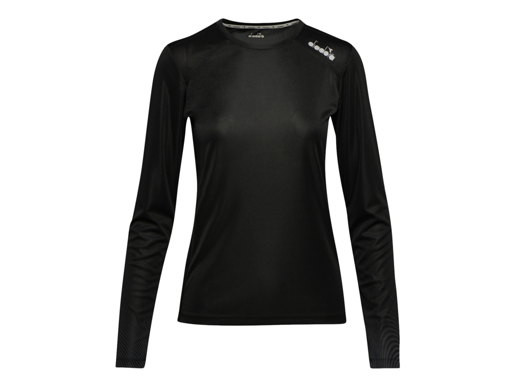 Image of   Diadora L. X-Run LS T-Shirt - Lange Ærmer Dame - Sort - Str. L