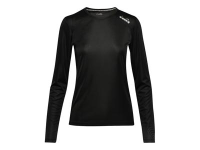 Diadora L. X-Run LS T-Shirt - Lange Ærmer Dame - Sort - Str. M