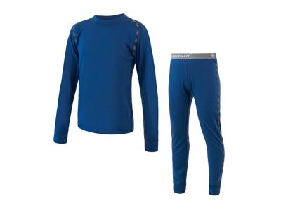 Sensor Merino Air Set JR - Skidunderkläder till barn - Merino Ull - Blå - Str. 100