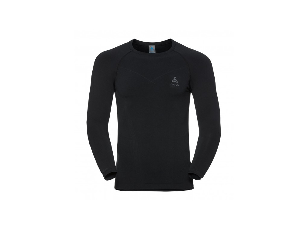 Image of   Odlo - Evolution warm shirt crew neck - Herre - Sort/grå - Str. XL