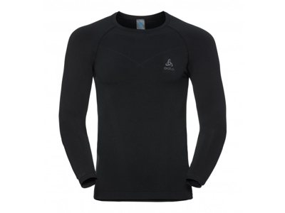 Odlo - Evolution Warm Shirt Crew Neck - Herre - Sort/Grå