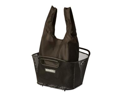 Basil - Keep shopper - Indkøbspose til kurv - Sort