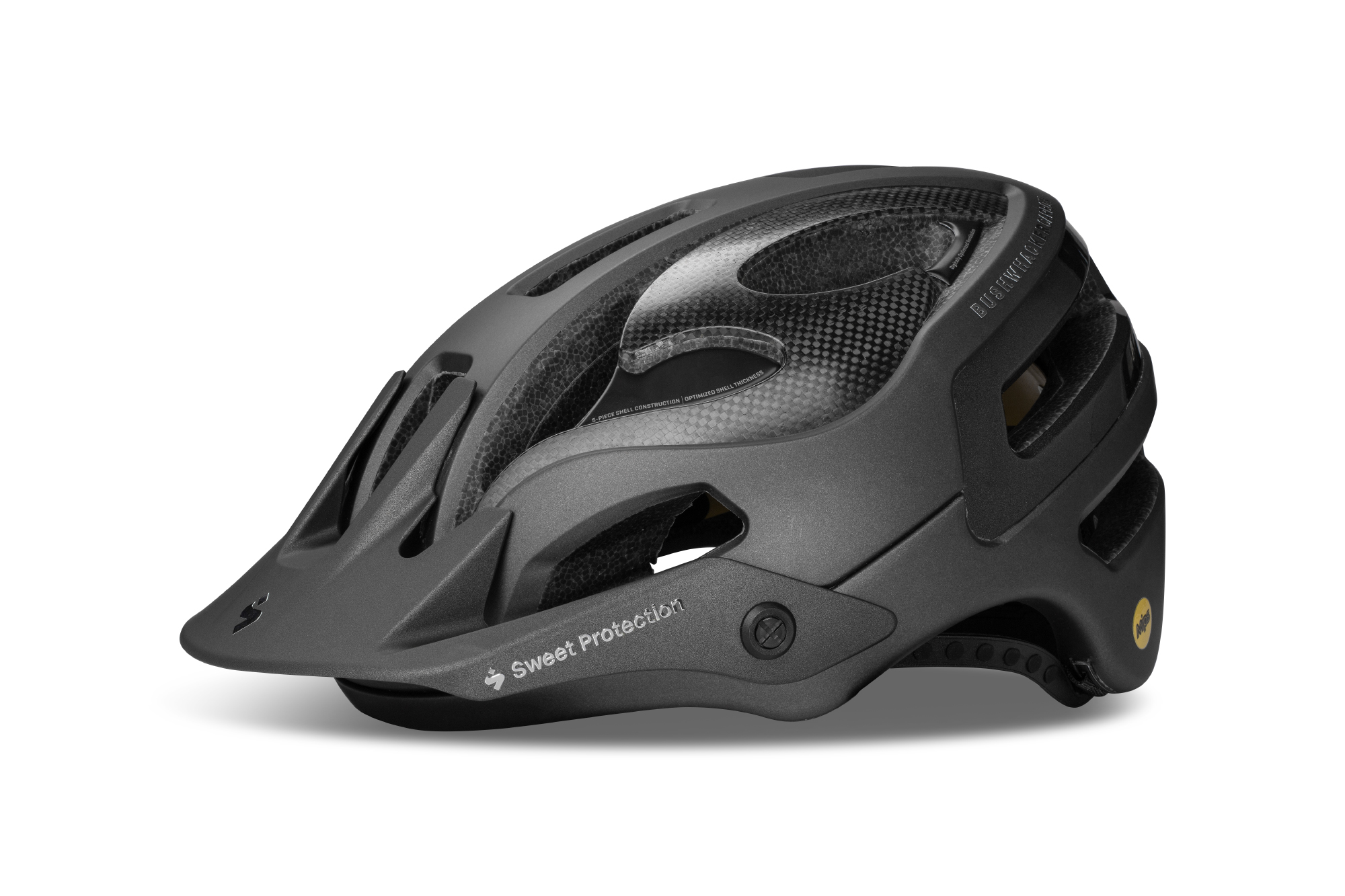 Sweet Protection Bushwhacker II Carbon MIPS - MTB hjelm - Matsort | Helmets